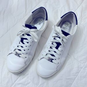 MICHAEL KORS IRVING LEATHER  NAVY/WHITE SNEAKERS